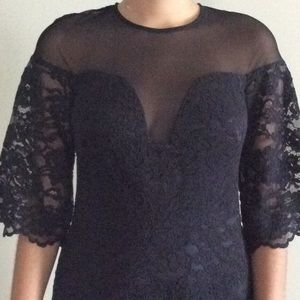 Nicole miller NWT BLACK LACE DRESS